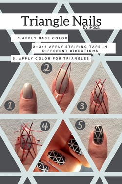 Nail Design With Triangles Ipoca